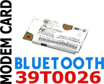 - Genuine IBM THINKPAD Bluetooth Modem Card 56K 39T0026