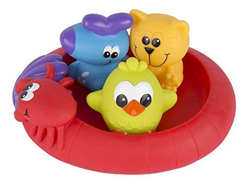 """Playgro Giochi per bagnetto """"Amici del nuoto"""", Senza aperture, Impermeabile e anti-sporco, 4 pezzi, Per il bagnetto, A partire da 6 mesi, Senza Bisfenolo A, Multicolore, 40213 1"""