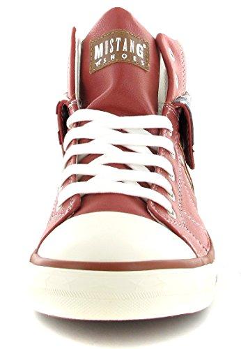 Mujer Zapatillas Color Altas Para Talla 45 Rojo Mustang dTwtqxOt