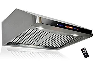 "AKDY 30"" AZ-1801A-75 Under Cabinet Stainless Steel Range Hood Touch Panel Control"