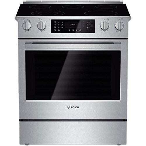 Bosch HEI8054U 800 30″ Stainless Steel Electric Slide-In Smoothtop Range – Convection