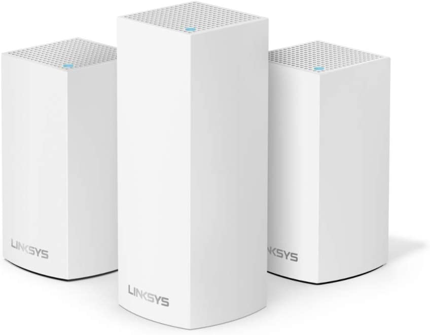 Linksys Velop Triband AC4600 Intelligent Mesh WiFi Router Replacement System | 3 Pack | Coverage up to 5,000 Sq Ft