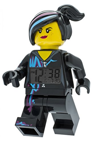 LEGO Movie Wyldstyle Kids Minifigure Light Up Alarm Clock | black/purple | plastic | 9.5 inches tall | LCD display | boy girl | official