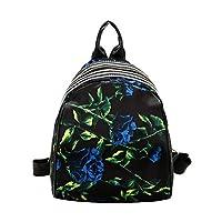 Hometom Bag & Shoes Fashion Leisure Backpack for Girls Teenage School Backpack Women Wild Shell Print Travel Backpack (Black-C)