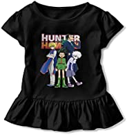 Elsaone Hxh Hunter X Hunter Leisure Short Sleeve Ruffled T-Shirts with The Last for Girls