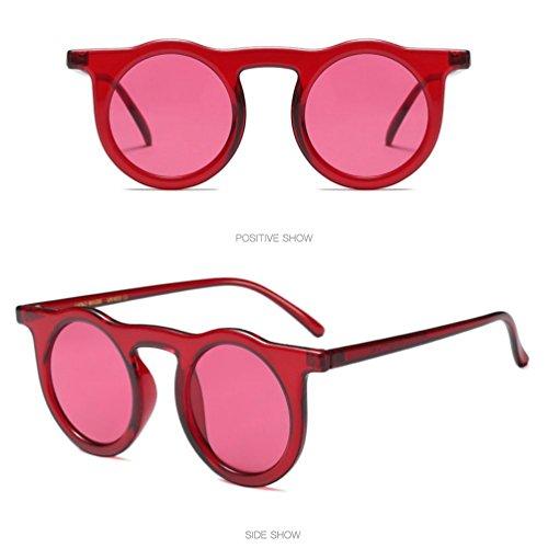 Ladies Fashion Round rétro lunettes Yqt80510199d de Vintage Frame Man lunettes Femmes Rameng soleil q4v1H