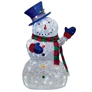 4 Feet Tall - Huge Twinkling LED Snowman -Indoor / Outdoor