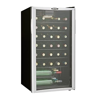 Danby DWC350BLPA 35 Bottle Wine Cooler Platinum