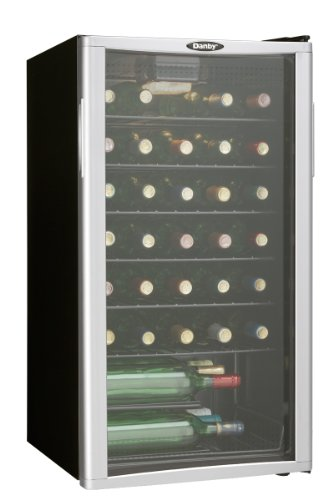 Danby DWC350BLPA 35 Bottle Wine Cooler - Platinum - Free 2 D