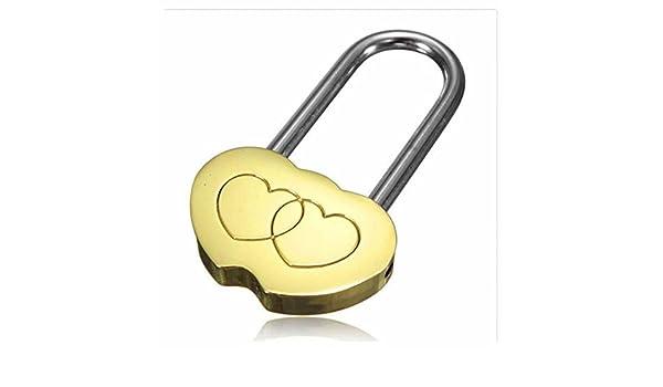 gootrades sólido latón Love Lock Wish Lock candado de corazón doble amor eterno para los amantes (Pack de 2): Amazon.es: Bricolaje y herramientas