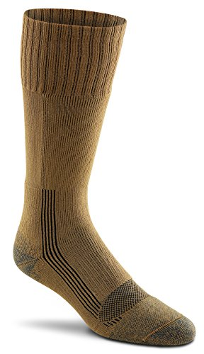 Military Wick Dry Maximum Mid Calf Boot Sock (2 Pack - X-Large, COYOTE BROWN)