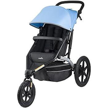 Amazon Com Schwinn Interval Jogging Stroller Stone Blue