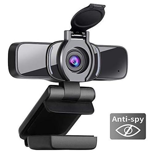 chollos oferta descuentos barato Dericam Cámara Web cámara Web 1080P con micrófono cámara Web USB HD con Cubierta de privacidad cámara de computadora para transmisión conferencias Juegos Clases en línea