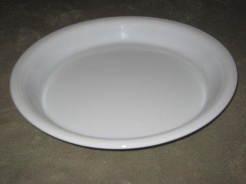 Vintage Pyrex Milk Glass w/ Gold Band 10 Inch Pie Baking Pan