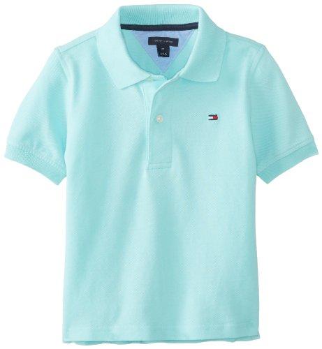 Tommy Hilfiger Boys 2-7 Ivy Polo Shirt Spring, Minty Fresh, 4