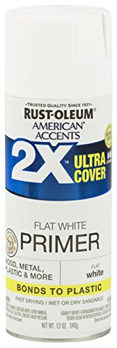 Wood Primer - Rust-Oleum 327914 American Accents Ultra Cover 2X Primer, Each, White