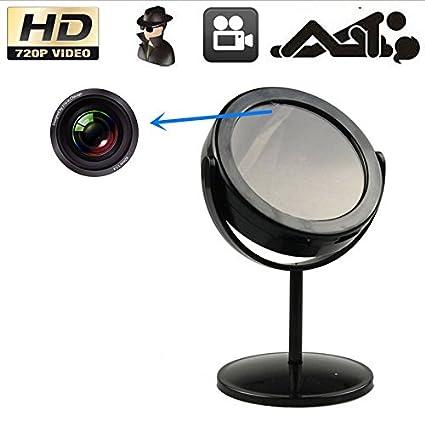 Electro-Weideworld - Mini Cámara Espía Espejo videocámara Grabador de vídeo Seguridad DVR Espejo Soporte