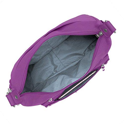 Earphones Hobo Trip complimentary RFID Day Sorbet Wristlet Baggallini Travel Bundle Handbag Everyday with UfqwxPta