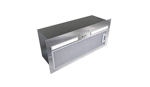 Campana extractora empotrable de 60 cm, plateada, 320 m3/h, 45 dB: Amazon.es: Grandes electrodomésticos