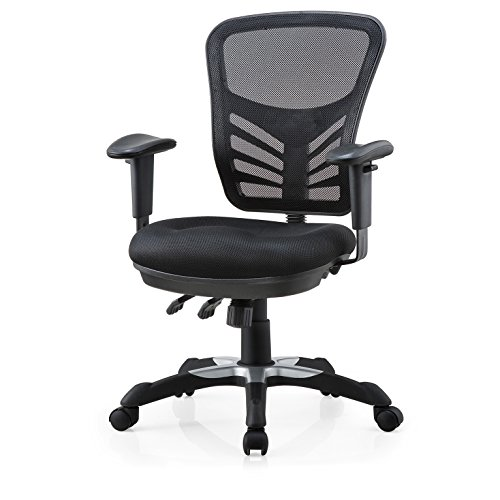 Poly and Bark Brighton Office Chair in Mesh, Black ()