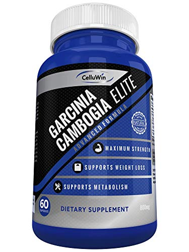 CelluWin Garcinia Cambogia ** 100% Pure Garcinia Cambogia ** HCA Extract Plus Calcium Booster | Maximum Strength Weight MGT Formula | Premium, Potent, Powerful | 60 Capsules | Natural Supplement