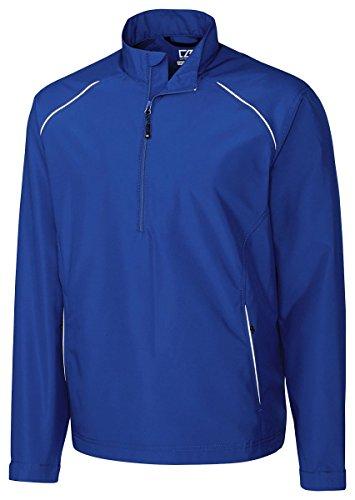 Cutter & Buck BCO00922 Mens Cb Weathertec Beacon Half Zip Jacket, Tour Blue-XLT Beacon Insulated Jacket