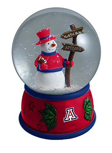 NCAA The University of Arizona Christmas Snow Globe, One Size, Multicolor by The Memory Company