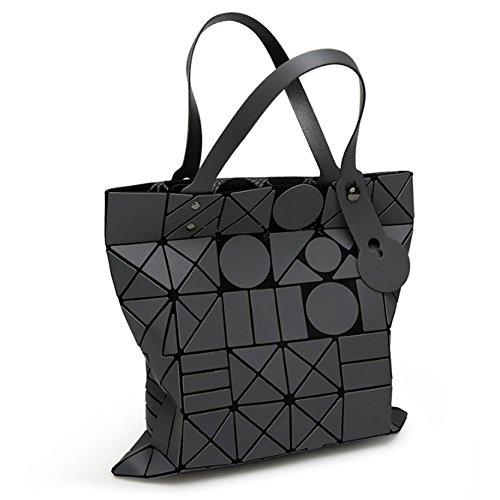 Mode Printemps Sac Été Laser Bandoulière Pour Femme Pliage Lingge Cube Rubik's Géométrie à Darkgray Sac Main Et à Sac xxwABq
