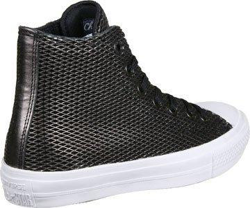 Black Black Metallic Chuck Top II Converse White High Perforated 4Yx0wn1