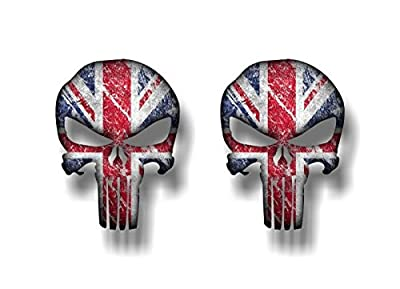 PUNISHER Britain Vinyl Union Jack Skull Graphic Decals American Sniper British Flag Gun Stickers