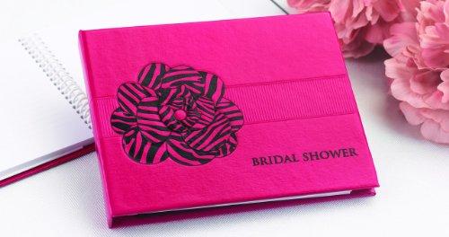 Hortense B. Hewitt Wedding Accessories Fuchsia Zebra Print Guest Book for Bridal Showers