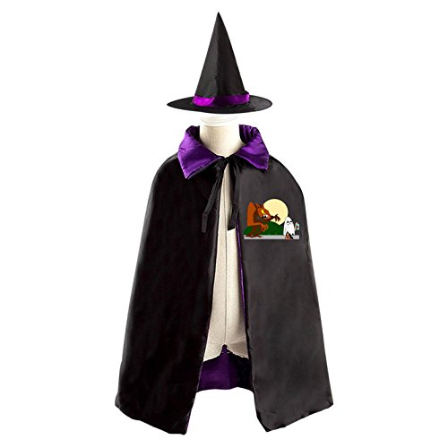 Outside The Box Halloween Costume Ideas (Hallowmas Witch Cloak Chapeau Costumes Print With Wolf Logo For Youngs Cosplay In Halloween)