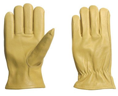 Pr x 2: Ace Grain Cowhide Leather Driver Gloves (2200-L) - Ace Shirred Gloves