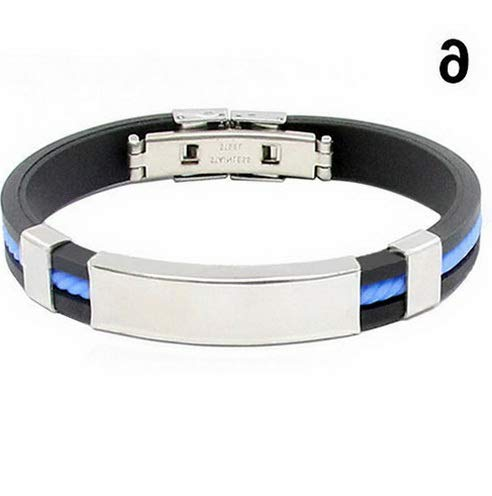 Werrox Women Bangle Bracelets Stainless Steel Rubber Wristband Clasp Cuff Bangles Mens | Model BRCLT - 21301 - De Bag Ano Scout