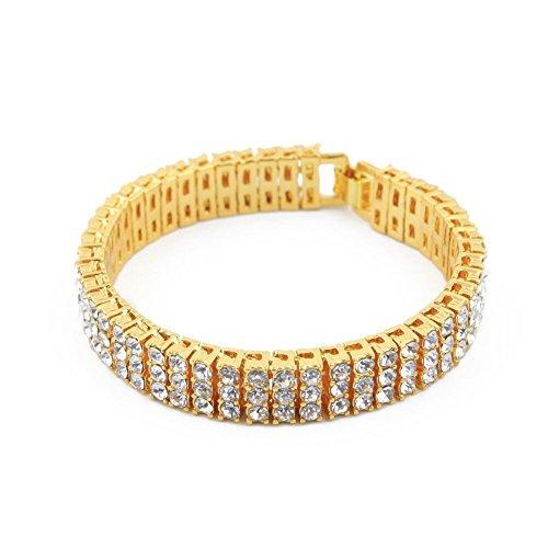 Large Hip-Hop 3 Row Pharaoh Bracelet - XL - for Men Women
