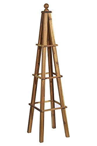 GARDENGOODZ 9/802/1 Wood Obelisk, Acacia