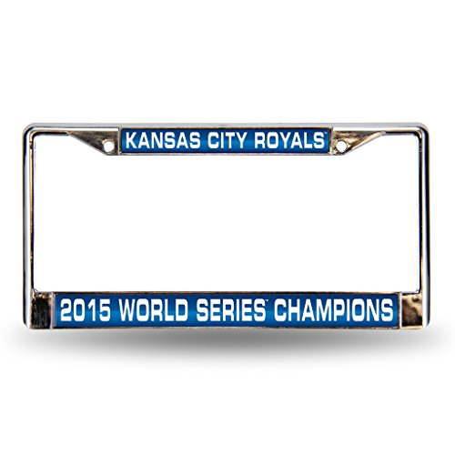 Rico Kansas City Royals Official MLB 12 inch x 6 inch 2015 World Series Champions Laser Chrome License Plate Frame by 890544 by Rico