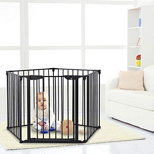 mewinshop Easy Install Safety Infant Baby Gate Extra Wide Steel Hearth Tall Pet Door Must Have Wicket Gateway Gangway Pass Safeguarding Balcony Open Porch Protection Guard Guardianship Fencing Picket