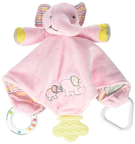 Pink Elephant Rattle - Stephan Baby Chewbie Activity Toy and TeeTher Security Blanket, Pink Elephant