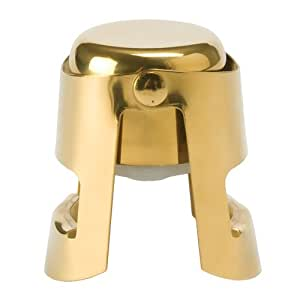 True Fabrications Champagne Stopper, Gold