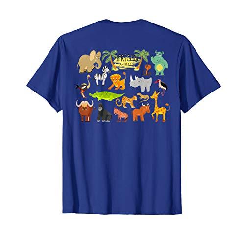 (Africa animals Elephant T-Shirt Giraffe Lion Zoo)