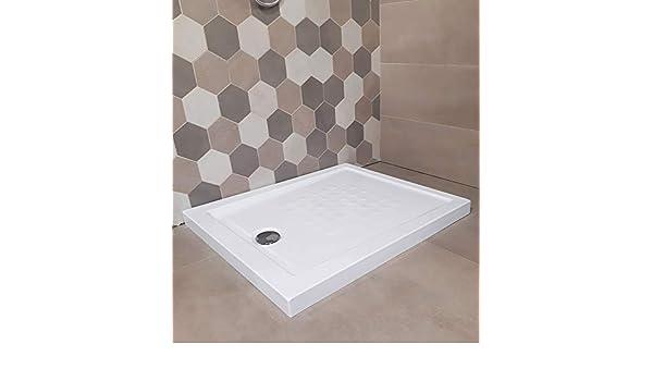 plato de ducha Acrílico reforzado H 5,5 X 70 X 180 cm. Blanco con ...