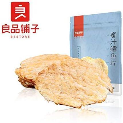 中国名物 おつまみ 大人気 良品铺子 蜜汁鳕鱼片 鱼干片 烤鱼片 鳕鱼干货鱼干 90g