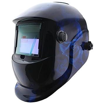 Calavera azul Solar oscurecimiento automático máscara de soldadura al arco MMA TIG MIG soldador DIGITALJIMS cascos máscara: Amazon.es: Bricolaje y ...