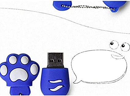Freedi 8GB Brown Flash Drive Memory Stick Pen Drive USB2.0 Animal Model Cat Claw Shape USB Stick High Speed Flash Memory Thumb Drive with Keychain Design