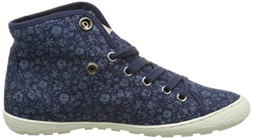 Altas Zapatillas Azul deep Pldm Mujer Palladium Para By Gaetane Print C61 flower w7qZH
