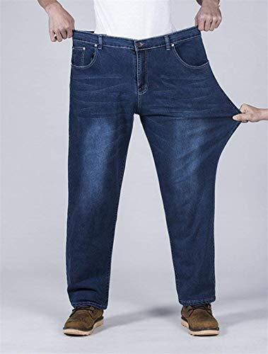 Da Casuali Stretch Jeans Blau 88 Especial Pantaloni Denim In Bobo Uomo Estilo Traspiranti Oversize Lunghi Dritti FxHRw