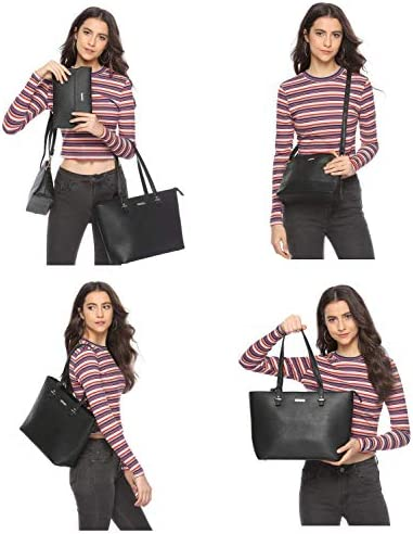 Women Fashion Handbags Wallet Tote Bag Shoulder Bag Top Handle Satchel Purse Set 4pcs