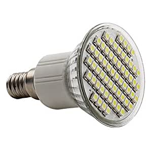 E143,5W 60x 3528SMD 150–180LM Natuaral luz blanca LED Spot bombilla (230V)