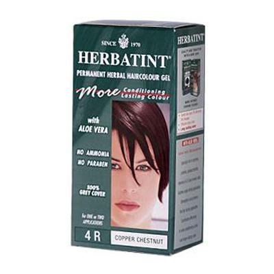 Herbatint 4R Permanent Herbal Copper Chestnut Haircolor Gel Kit - 3 per case.